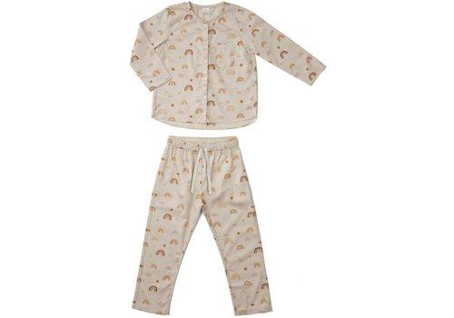 Liewood 2-delige pyjama Olly Rainbow love Sandy