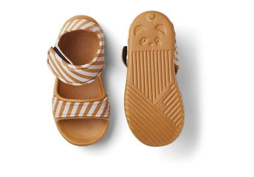 Liewood Blumer sandals Stripe mustard/ creme de la creme