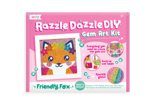 "Ooly Knutselset Razzle Dazzle Gem Art ""Friendly Fox"""