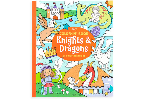 Ooly Kleurboek ''Knights & Dragons''