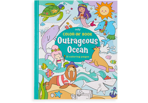 Ooly Color-in' book ''Outrageous Ocean''
