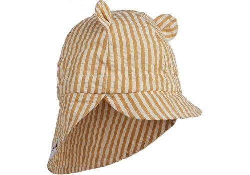 Liewood Gorm sun hat Stripe mustard/white