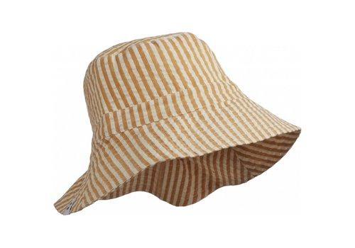Liewood Sander bucket hat Stripe mustard/white