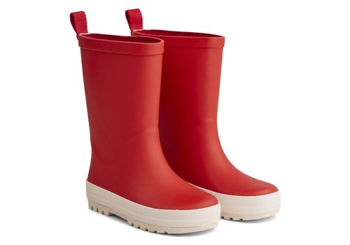 Liewood River rain boot Apple red/ creme de la creme mix