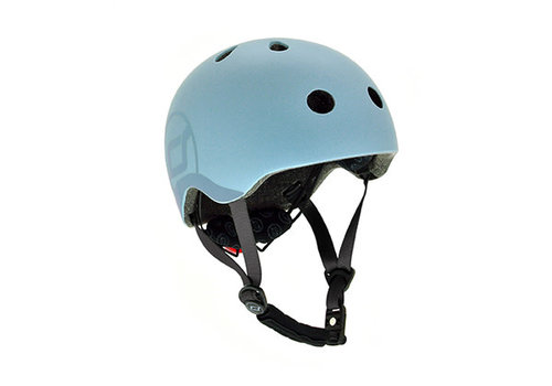 Scoot and Ride Kinderhelm S - Steel (51-55cm)