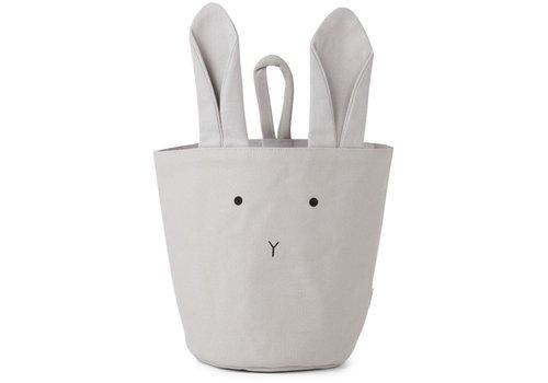 Liewood Textielmandje Ib Rabbit dumbo grey