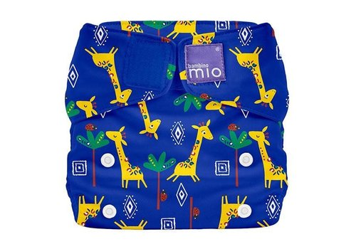 Bambino Mio MIOSOLO all-in-one reusable nappy giraffe jamboree