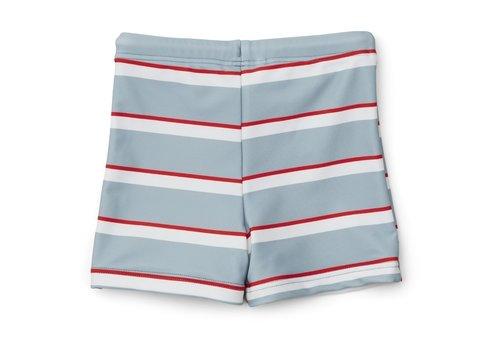 Liewood Otto swim pants Stripe sea blue/apple red/creme de la creme