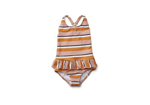 Liewood Amara swimsuit Stripe rose/mustard/creme de la creme
