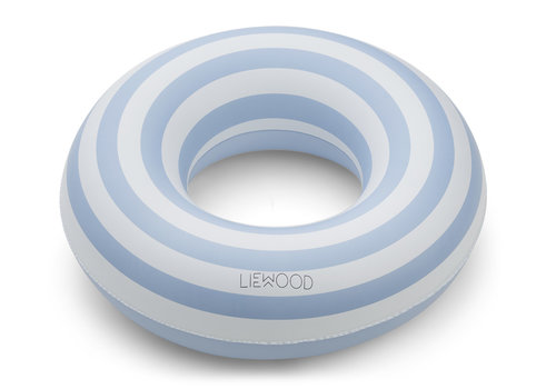 Liewood Baloo swim ring Stripe sea blue/creme de la creme 1-5y