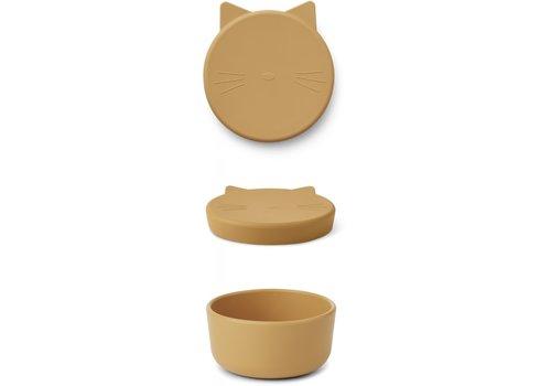 Liewood Cornelius snackdoos Cat yellow mellow
