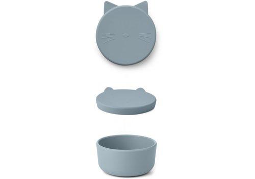 Liewood Cornelius snackdoos Cat sea blue
