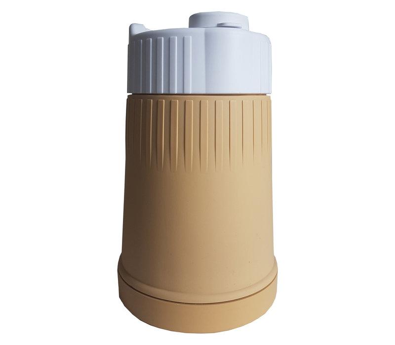 Milk powder dispenser yellow