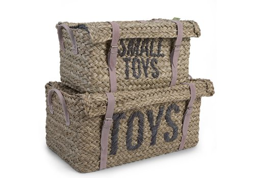 "Childhome Rattan manden ""Toys & little toys"" set van 2st"