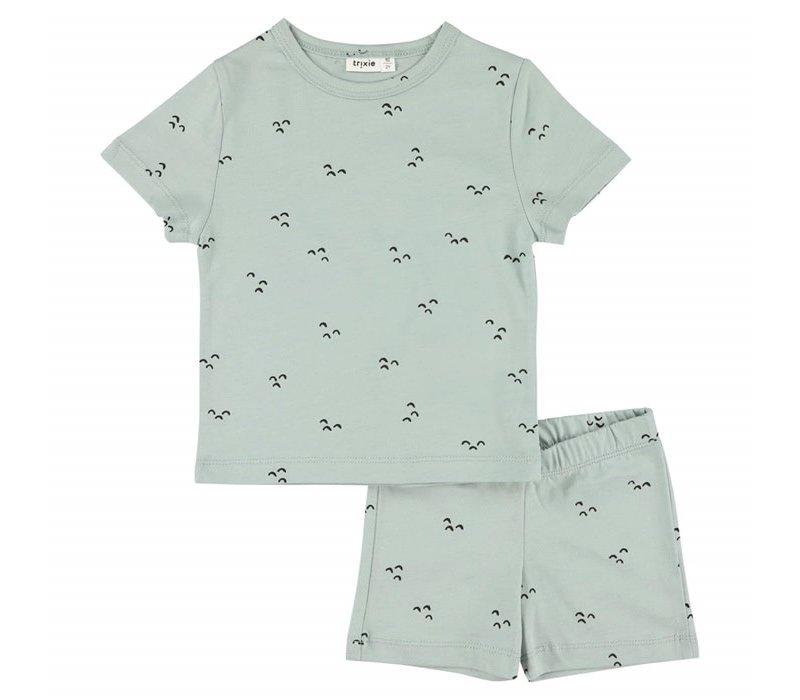 Pyjama 2 pieces short Mountains
