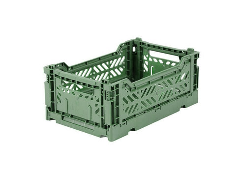Aykasa Foldable crate mini almond green