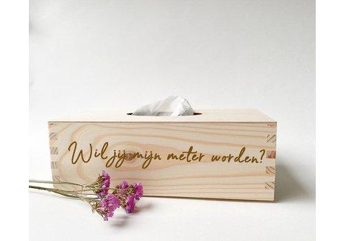 Minimou Tissue Box Wil je mijn meter worden?