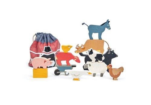 Tender Leaf Toys Stapelaar boerderijdieren