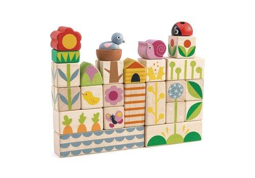 Tender Leaf Toys Blokken tuin 24st