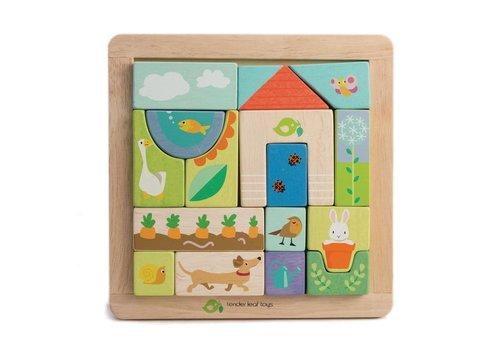 Tender Leaf Toys Blokkenpuzzel tuin