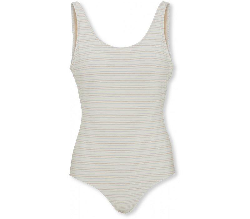 Mommy basic swimsuit Vintage stripe