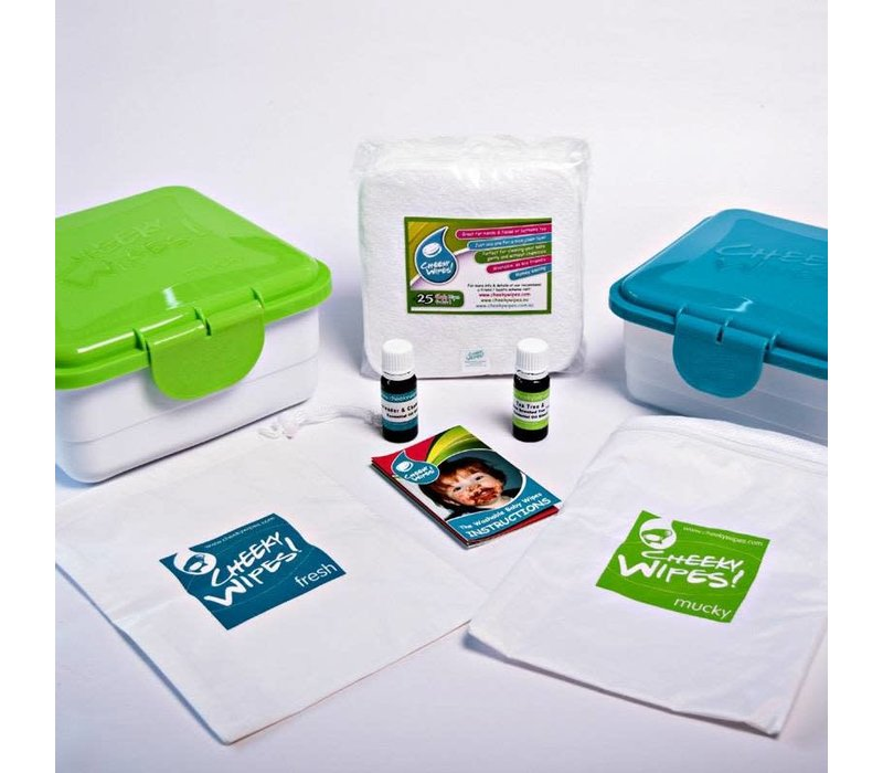 All-in-one Cheeky Wipes kit - premium katoen rainbow