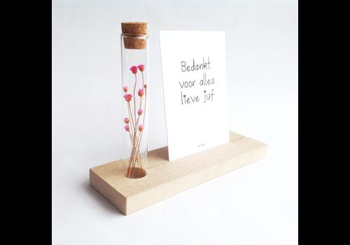 By Romi Memory Shelf met droogbloemen / Bedankt voor alles lieve juf