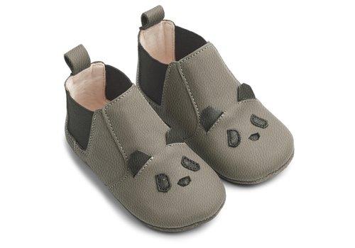 Liewood Edith leather slippers panda grey