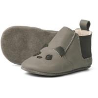 Edith leather slippers panda grey
