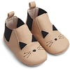 Liewood Edith leather slippers cat rose