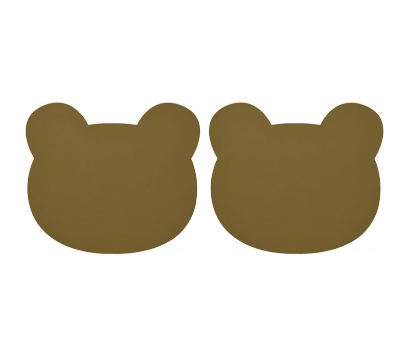 Gada placemat 2-pack Bear olive green