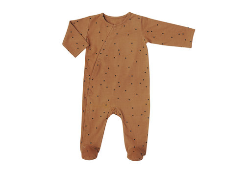 Bonjour Little day+night babysuit crazy dots nut