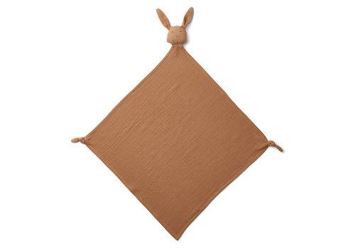 Liewood Robbie multi muslin cloth Rabbit terracotta