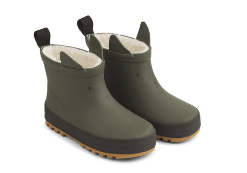 Liewood Jesse thermo rain boot Hunter green/black mix
