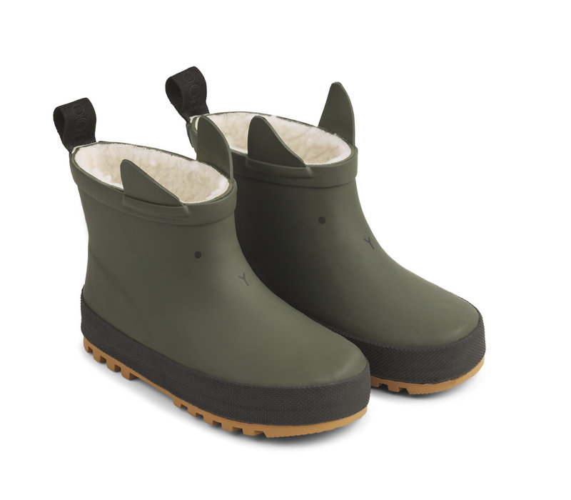 Jesse thermo rain boot Hunter green/black mix