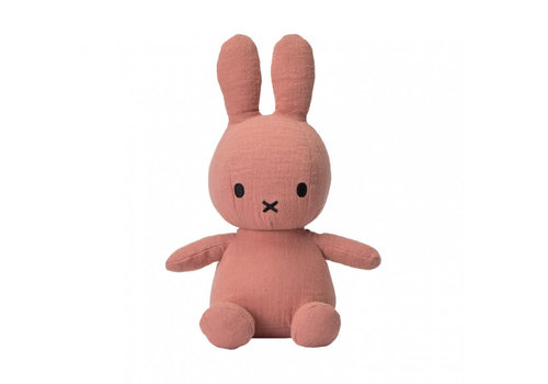 Nijntje Miffy Sitting Mousseline pink - 23cm