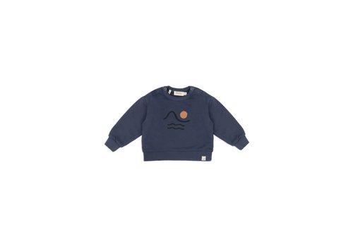Dusq Sweater LS american fleece sea blue