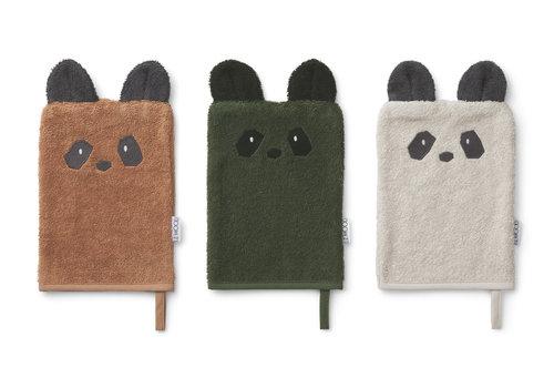 Liewood Sylvester washcloth 3-pack Panda mix