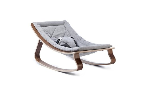 Charlie Crane Baby rocker LEVO Walnut Sweet Grey