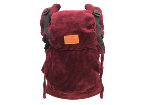 ByKay Draagzak Click Carrier Deluxe - Ribbed velvet berry red