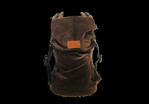 ByKay Draagzak Click Carrier Classic - Baby-rib velvet dark brown