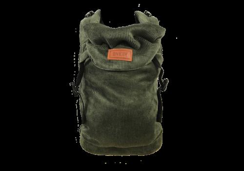 ByKay Draagzak Click Carrier Classic - Ribbed velvet moss green