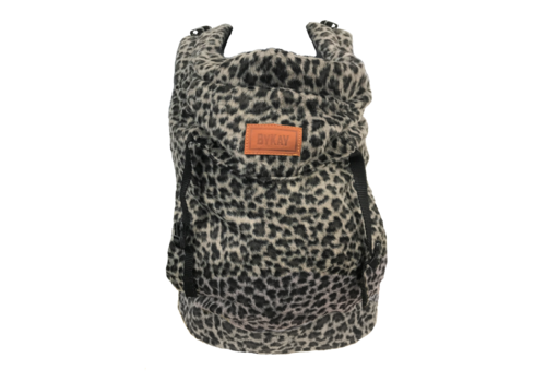 ByKay Draagzak Click Carrier Classic - Furry leopard grey