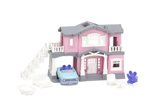 Green Toys House playset pink