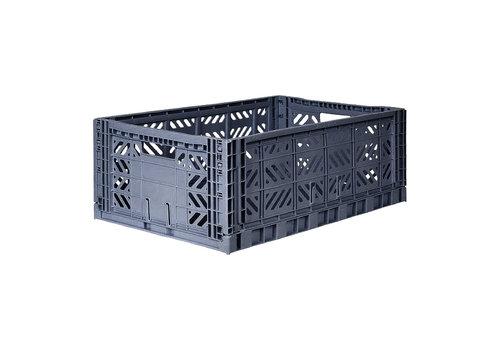 Aykasa Foldable crate maxi cobalt blue