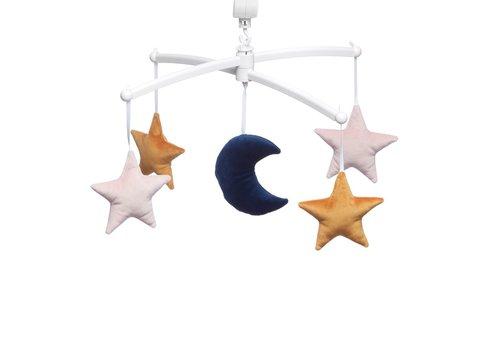 Pouce et Lina Muziekmobiel Moon & Stars velvet rose