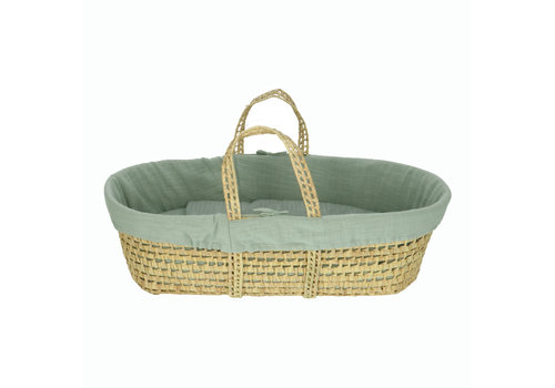 Heart of Gold Moses basket with linen Foam