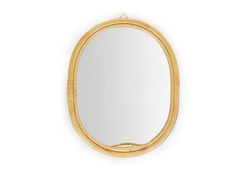 Childhome Rotan spiegel ovaal 32x35cm