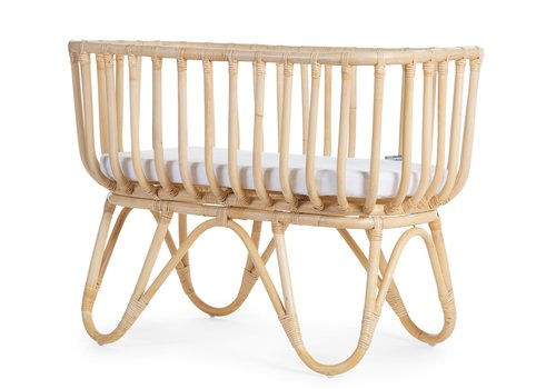 Childhome Rattan cradle square + mattress