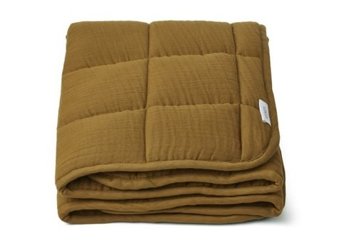 Liewood Mette quilted blanket Olive green